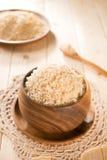 Φρέσκο μαγειρευμένο οργανικό basmati καφετί ρύζι της Ινδίας Στοκ Εικόνα