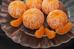 Φρέσκο ξεφλουδισμένο tangerine στοκ φωτογραφίες