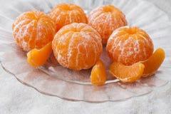 Φρέσκο ξεφλουδισμένο tangerine στοκ φωτογραφία με δικαίωμα ελεύθερης χρήσης