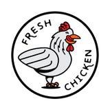 Φρέσκο λογότυπο κοτόπουλου Στοκ Φωτογραφία