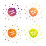 Φρέσκο λογότυπο χυμού Διανυσματική απεικόνιση
