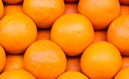 Φρέσκο οργανικό πορτοκάλι που διατάζεται Στοκ Εικόνες