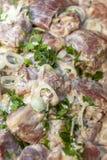 Φρέσκο παστωμένο κρέας για το shish kebab επάνω από την όψη στοκ εικόνα με δικαίωμα ελεύθερης χρήσης