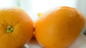 Φρέσκο πορτοκάλι από το αγρόκτημα απόθεμα βίντεο