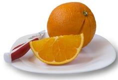 φρέσκο πορτοκάλι Στοκ Εικόνες