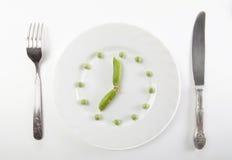 φρέσκο πράσινο μπιζέλι Στοκ Φωτογραφία