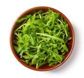 Φρέσκο πράσινο arugula στο άσπρο υπόβαθρο Στοκ εικόνες με δικαίωμα ελεύθερης χρήσης