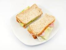 Φρέσκο σάντουιτς ζαμπόν και τυριών Στοκ εικόνες με δικαίωμα ελεύθερης χρήσης