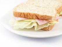 Φρέσκο σάντουιτς ζαμπόν και τυριών Στοκ Εικόνες