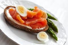 φρέσκο σάντουιτς σολομών Στοκ εικόνες με δικαίωμα ελεύθερης χρήσης