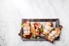 Φρέσκο σάντουιτς bahn-mi baguette που ορίζεται Στοκ Φωτογραφίες