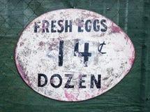Φρέσκο σημάδι αυγών στοκ φωτογραφία