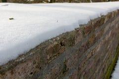 Φρέσκο στρώμα χιονιού στο Μάαστριχτ στοκ εικόνες με δικαίωμα ελεύθερης χρήσης