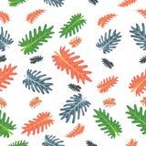 Φρέσκο σχέδιο χρώματος φύλλων φυσικό ελεύθερη απεικόνιση δικαιώματος