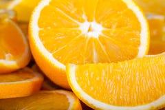 Φρέσκο σύνολο πορτοκαλιών των βιταμινών Στοκ Φωτογραφία