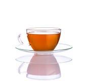 Φρέσκο τσάι ενός φλυτζανιού στο άσπρο υπόβαθρο Στοκ φωτογραφίες με δικαίωμα ελεύθερης χρήσης