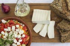 Φρέσκο τυρί 9 αιγών Στοκ Φωτογραφίες