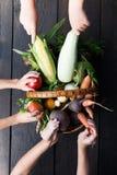Φρέσκο υπόβαθρο τροφίμων Veg, υγιής αγορά r στοκ εικόνα με δικαίωμα ελεύθερης χρήσης