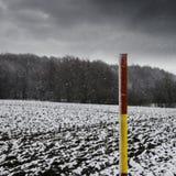 Φρέσκο χιόνι, που βρίσκεται στους τομείς Στοκ Φωτογραφίες
