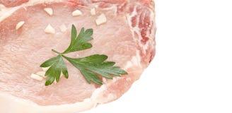 φρέσκο χοιρινό κρέας μπριζολών Στοκ εικόνες με δικαίωμα ελεύθερης χρήσης