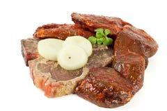 Φρέσκο ψημένο στη σχάρα κρέας Στοκ Εικόνα