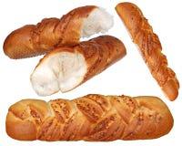 Φρέσκο ψωμί σίτου που απομονώνεται σε ένα άσπρο υπόβαθρο. Στοκ εικόνες με δικαίωμα ελεύθερης χρήσης