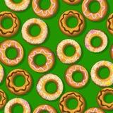 Φρέσκο doughnut πρότυπο Στοκ εικόνα με δικαίωμα ελεύθερης χρήσης