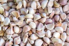 Φρέσκο garlics για την πώληση στην αγορά Στοκ εικόνες με δικαίωμα ελεύθερης χρήσης