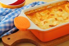 Φρέσκο lasagna με το βόειο κρέας Στοκ Εικόνες