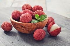 Φρέσκο lychee Στοκ Εικόνες