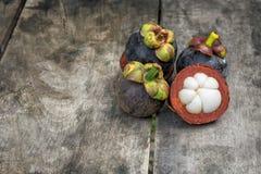 φρέσκο mangosteen Στοκ Φωτογραφία