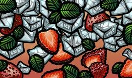Φρέσκο mojito θερινών φραουλών Στοκ φωτογραφία με δικαίωμα ελεύθερης χρήσης