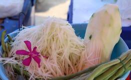 Φρέσκο papaya για το SOM -SOM-tum μαγείρων Στοκ Εικόνες