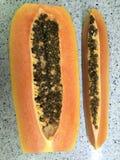 φρέσκο papaya Στοκ φωτογραφία με δικαίωμα ελεύθερης χρήσης