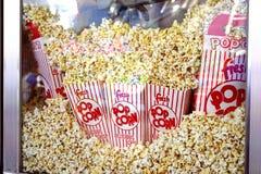 Φρέσκο popcorn - κινηματογράφηση σε πρώτο πλάνο Στοκ Φωτογραφίες