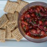 Φρέσκο salsa φραουλών Στοκ φωτογραφίες με δικαίωμα ελεύθερης χρήσης