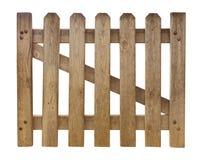 Φραγή που απομονώνεται ξύλινη στο λευκό Στοκ Εικόνες