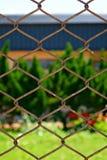 φραγή που συνδέεται με καλώδιο Στοκ εικόνα με δικαίωμα ελεύθερης χρήσης