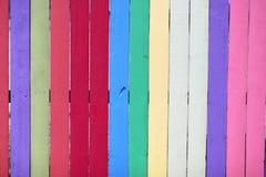 φραγή που χρωματίζεται ζωηρόχρωμη Στοκ εικόνες με δικαίωμα ελεύθερης χρήσης
