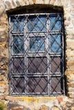 Φραγμένο παράθυρο στις έπαλξεις Jihlava του 17ου αιώνα Στοκ Φωτογραφία