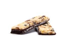 Φραγμοί δημητριακών Muesli Πρωτεϊνικοί φραγμοί βρωμών Nutri Στοκ εικόνα με δικαίωμα ελεύθερης χρήσης