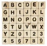 Φραγμοί και αριθμοί αλφάβητου Στοκ φωτογραφία με δικαίωμα ελεύθερης χρήσης