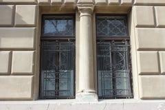 Φραγμοί παραθύρων με παλαιό Στοκ Εικόνες
