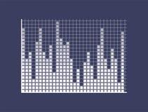 Φραγμοί που αποτελούνται υγιείς από τα τετράγωνα στις συντεταγμένες απεικόνιση αποθεμάτων