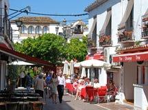 Φραγμοί πόλης κέντρων, Marbella Στοκ εικόνα με δικαίωμα ελεύθερης χρήσης