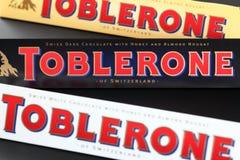 Φραγμοί σοκολάτας Toblerone Στοκ Εικόνες