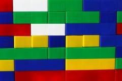 Φραγμοί σχεδιαστών Πλαστικοί φραγμοί παιχνιδιών, κατασκευαστής παιχνιδιών παιδιών Στοκ Φωτογραφίες