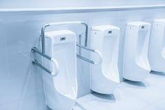 Φραγμοί τουαλετών ουροδοχείων για τα με ειδικές ανάγκες άτομα στοκ εικόνα