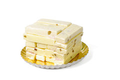 Φραγμοί του άσπρου φοντάν που συσσωρεύονται στο πιάτο Στοκ φωτογραφία με δικαίωμα ελεύθερης χρήσης