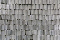 Φραγμοί τούβλου κατασκευής που συσσωρεύονται σε έναν τοίχο Στοκ φωτογραφία με δικαίωμα ελεύθερης χρήσης